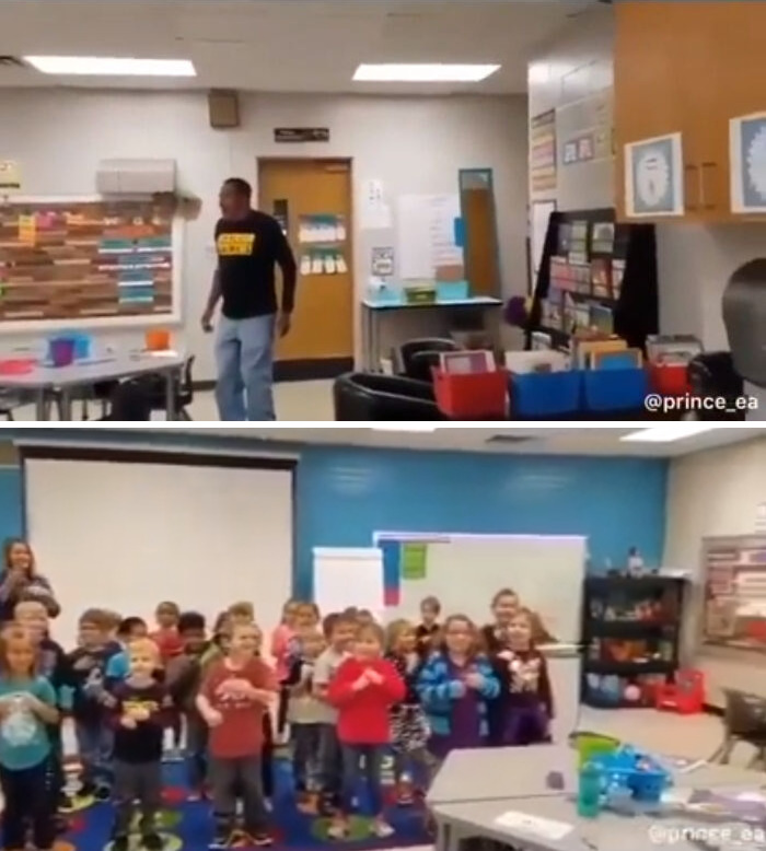 When The Kindergartners Learn Sign Language So That They Could Wish Their Deaf Janitor A Happy Birthday