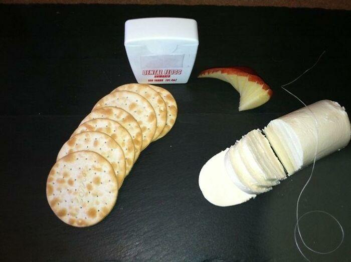 Cortar queso blando