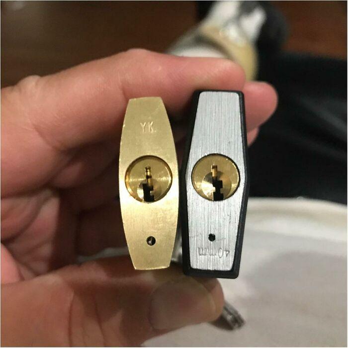 Un uso más suave de la cerradura de un candado