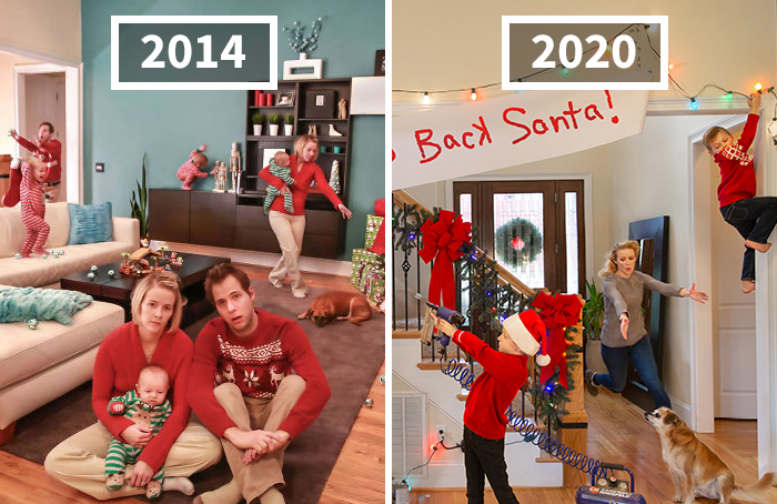 This Family Started Doing 'Real Life' Christmas Cards 7 Years Ago And They Get Crazier As The Kids Grow Up