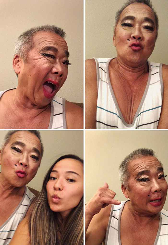 """I Did My Dad's Makeup. Giving """"Beautiful"""" A Whole New Meaning"""