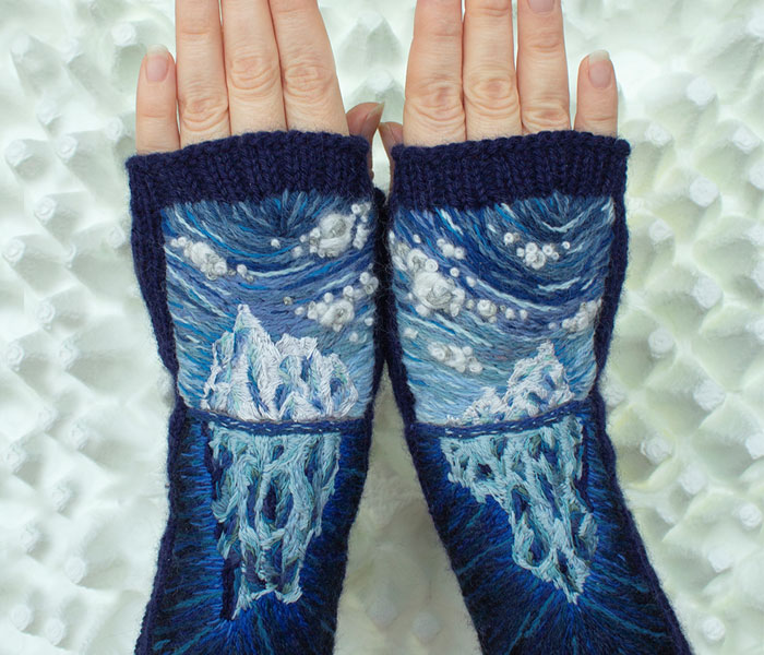 I Have Been Making Embroidered Gloves For Over 7 Years Now, Here Are My 40 Best Works