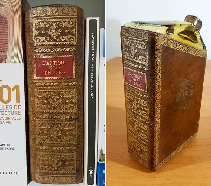 "I Found A Book Called ""The Ancient Thirst To Read"". It's Actually A Flask"