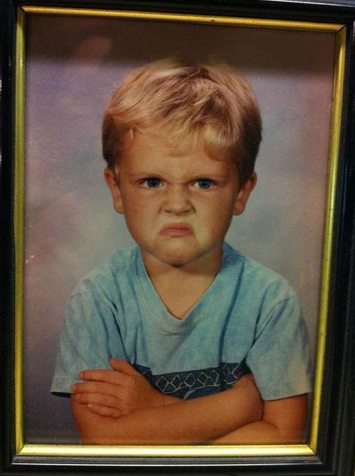 My Friend's Boyfriend Was Not Happy About His Kindergarten Picture. His Parents Still Have It Framed In Their House 20 Years Later