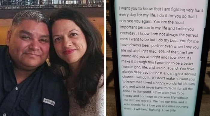 Husband Hospitalized With COVID-19 Writes A Heartbreaking Letter To Wife Before Dying