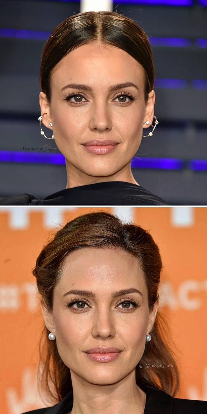 Jessica Alba + Angelina Jolie