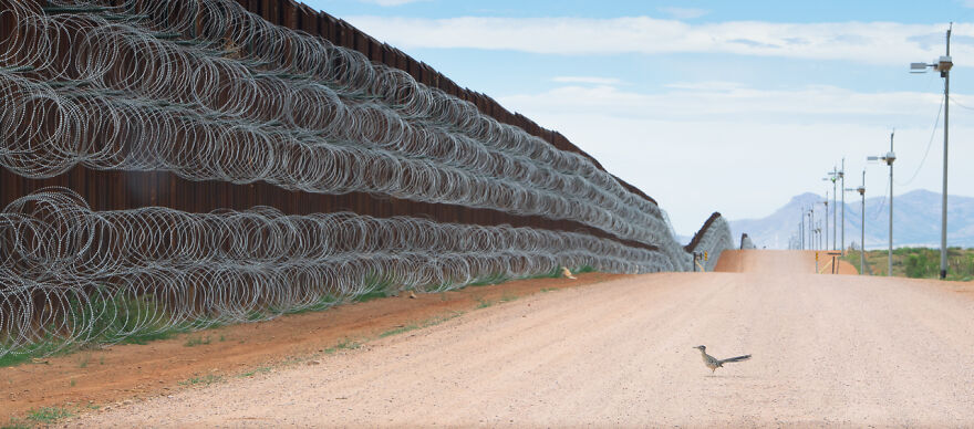 Category Fred Hazelhoff Portfolio Award: Winner, 'Border Wall Project' By Alejandro Prieto