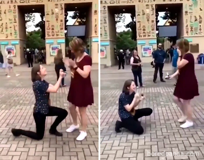 Couple Proposes To Each Other At The Same Time