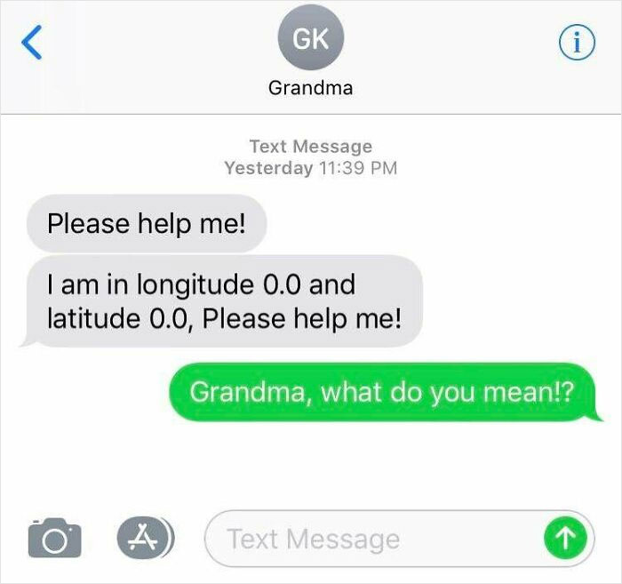 Grandma Said She Was In The Middle Of The Atlantic Late Last Night With No Extra Explanation