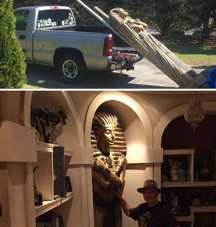 Someone On My Yard Sale Group Bought This Sarcophagus Without Measuring And Found Themselves With A Perfect Fit