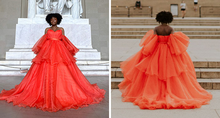 18-Year-Old High School Graduate Wears Her Prom Dress To A Tourist Spot, Gets An Impromptu Photoshoot
