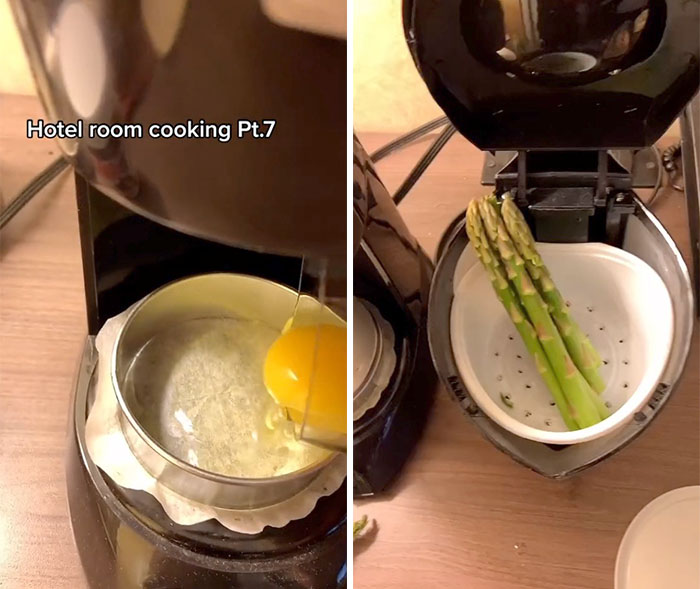 This Quarantined Chef Is Cooking Gourmand Meals Utilizing Primary Lodge Room Home equipment, And His 158k TikTok Followers Are Unusually Into It