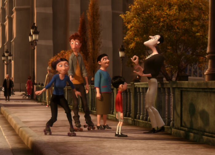 This Mime In The Background Of Ratatouille Is Bomb Voyage From The Incredibles