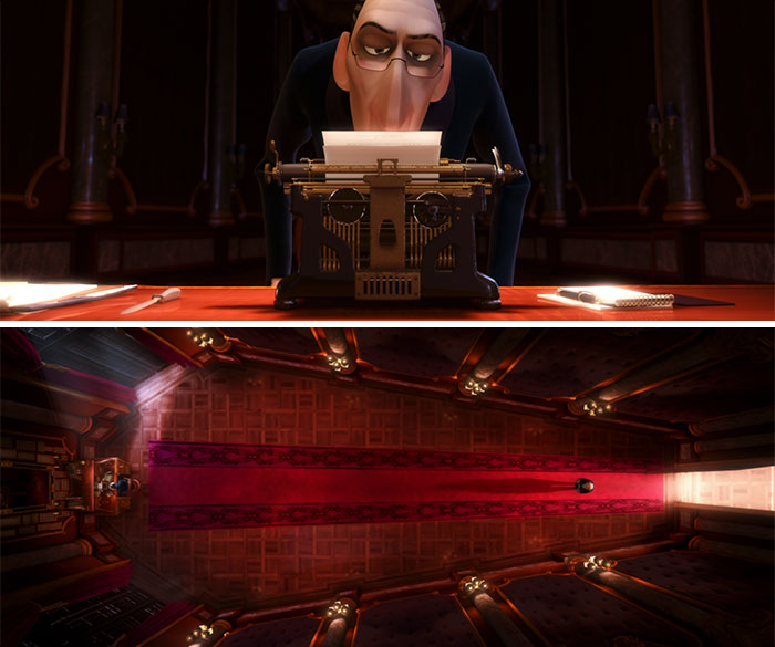 Anton Ego's Typewriter Resembles A Skull And His Office A Coffin