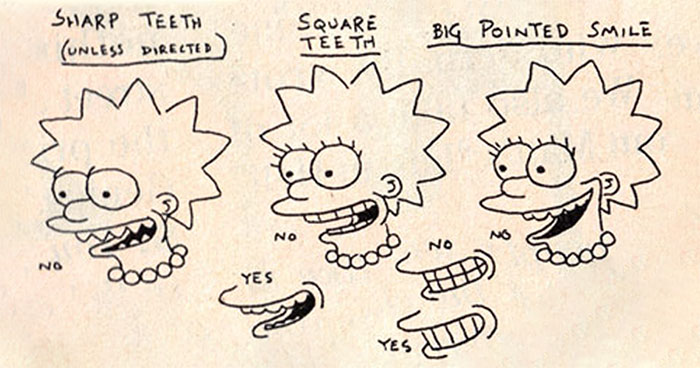 'The Simpsons' Style Guide From 1990 Reveals Certain Rules For Animating Characters And It's Fascinating