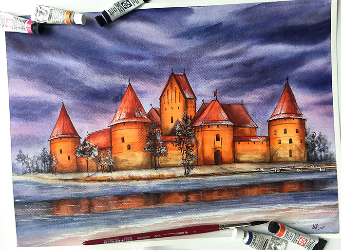 I Use Online Maps To Paint Beautiful Places Around The World I Haven't Been To (30 Pics)