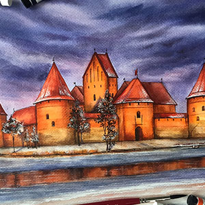 Since Traveling Is Limited Now, I Visit Beautiful Places Around The World Through My Watercolor Paintings (30 Pics)