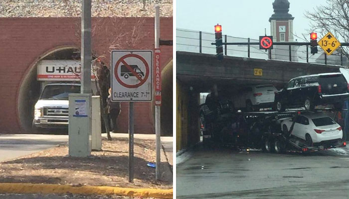 30 Sad Pics Of Trucks And Buses That Tried To Fit Under A Bridge And Regretted It Immediately