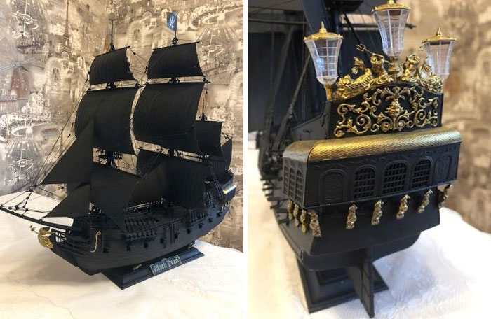 It Took Me A Bit More Than A Year, 2 Weeks Of Which I Was Assembling The Base And Putting The Sails On During The Last Month. 900 Details And Hundreds Of Threads And Knots!