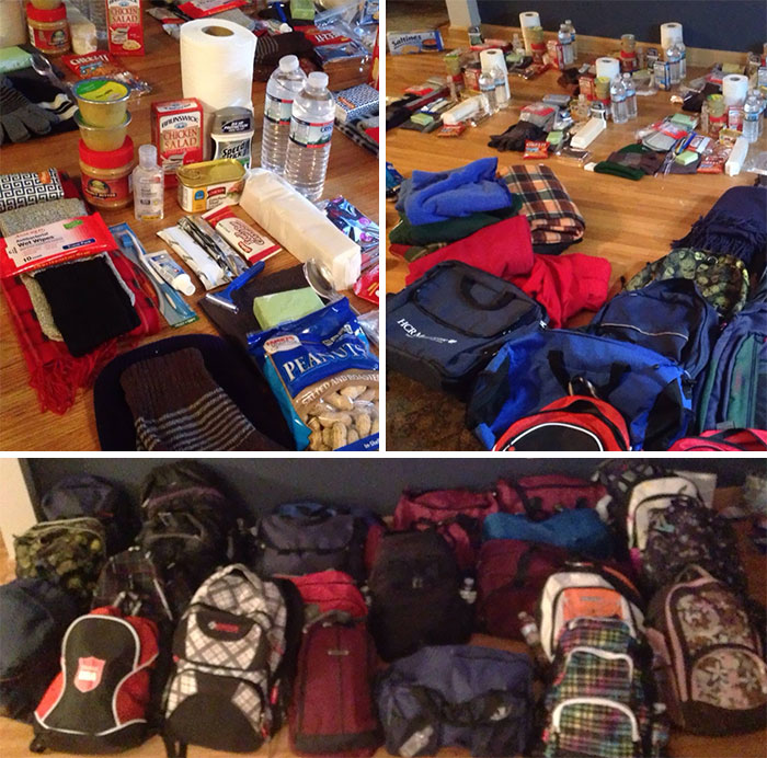 For Christmas This Year I Made 25 Homeless Backpack Care Kits