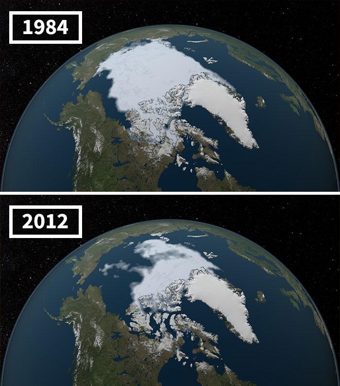 Océano Ártico-La Capa De Hielo Alcanza Un Nuevo Récord Mínimo