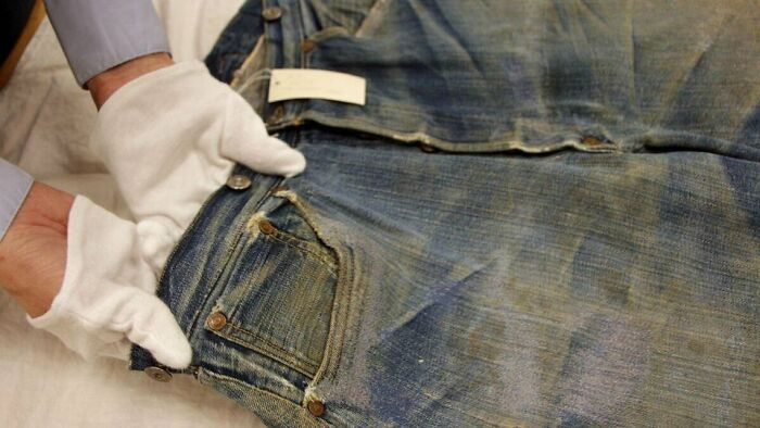 World's Oldest Pairs Of Levi's Jeans Found In A Goldmine 136 Years Later
