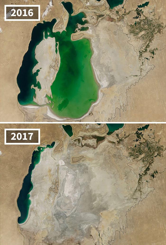Shrinking Aral Sea, Central Asia