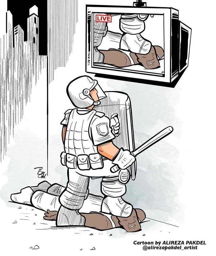 41 Illustrations That Question Modern Society By An Iranian Artist