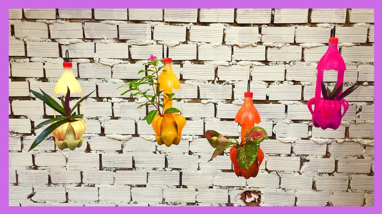 DIY Projects Recycling Plastic Bottles Into Hanging Flower Pot