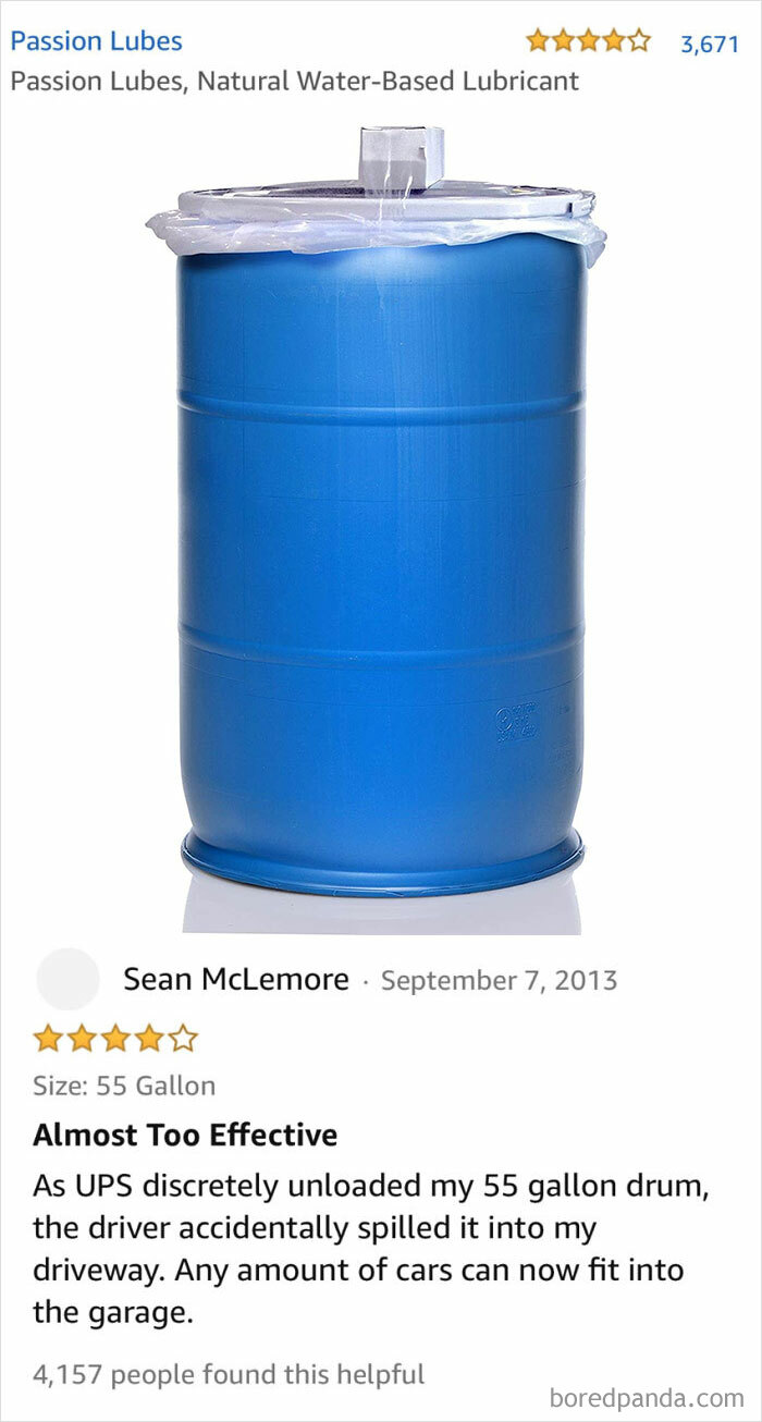55 Gallons Of Lubricant
