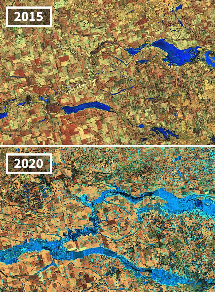 Inundaciones Del Río James River En Dakota Del Sur
