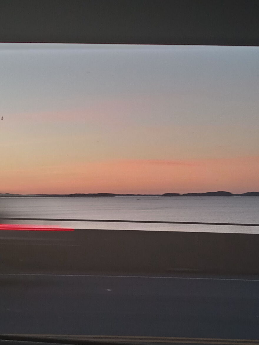 I Took A Pic Of A Lake While In A Car