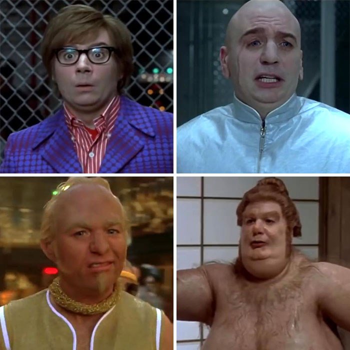 Mike Myers As Austin Powers, Dr. Evil, Goldmember, And Fat Bastard In Austin Powers: Goldmember (2002)