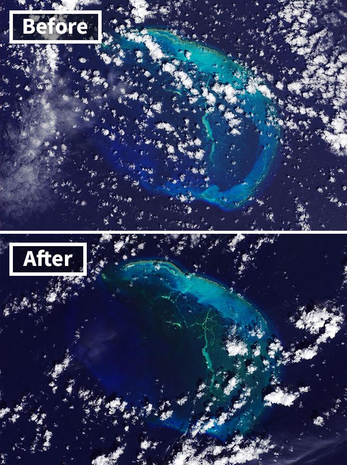 Hawaiian Island Disappears