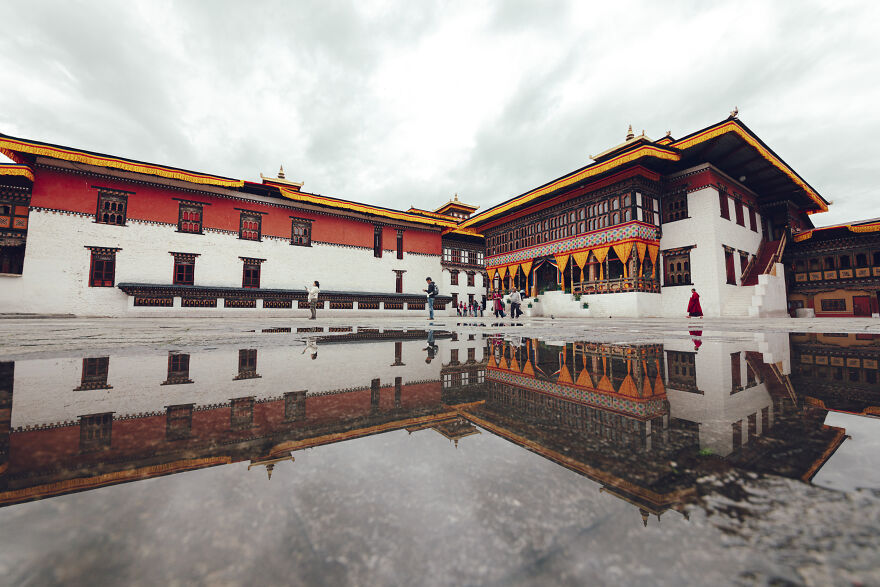 Tashichhoed-Dzong Is A Buddhist Monastery And Fortress On The Northern Edge Of The City Of Thimphu In Bhutan
