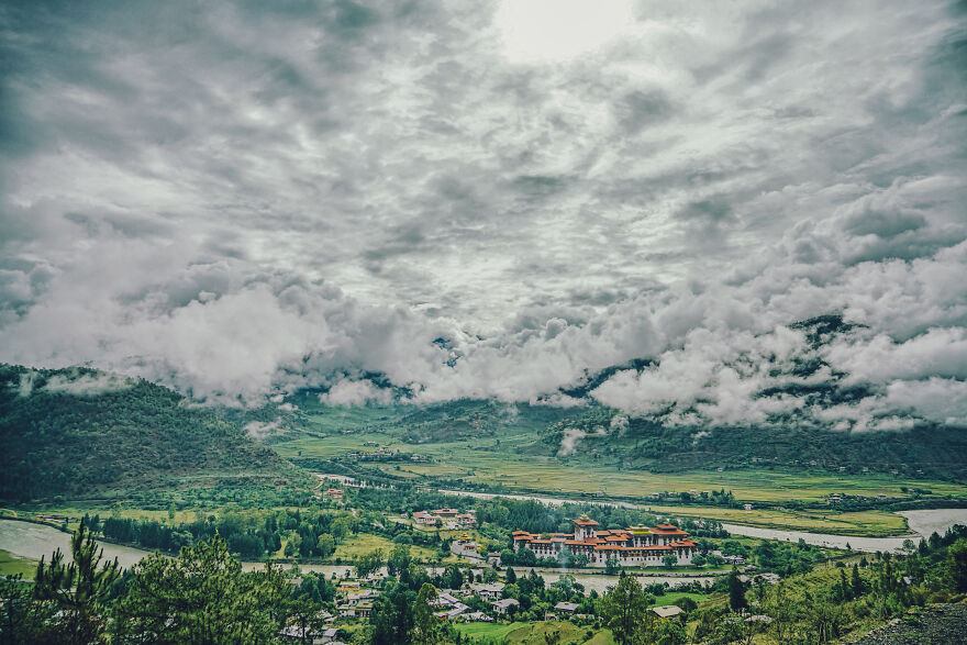 """As I Looked Around The Landscape, The First Thing That Struck Me Was How Close The Clouds Were. There Is A Theory That The Name Of The Country Originated From The Sanskrit Word """"Bhutan,"""" Meaning """"Highland,"""" And I Was Fascinated By The Cloud Formations That Only Highlands Can Produce."""