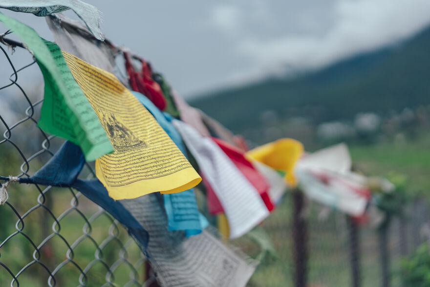 Tarchos Are One Of The Beliefs Of Tibetan Buddhism, Where The Words And Pictures On The Five-Colored Flags Flutter In The Wind To Indicate That The Sutra Has Been Recited.