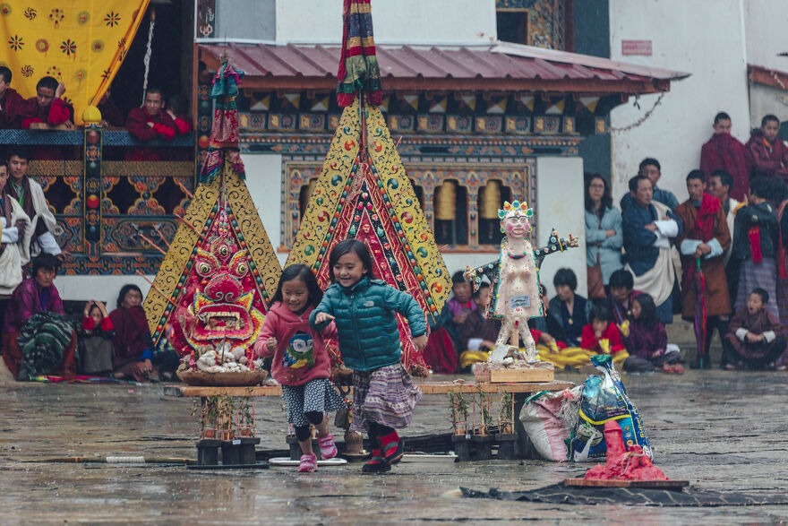 When We Visited The Gante Temple, The Largest Temple In Western Bhutan Of The Nyingma Sect Of Tibetan Buddhism, We Were Right In The Middle Of A Festival.