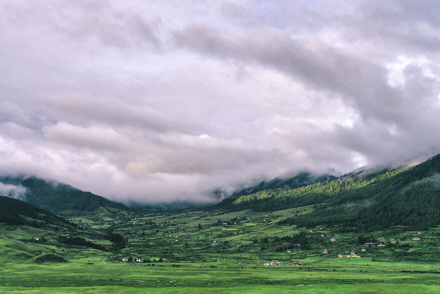The Pobjica Valley In Wangdue Phodrang Province Is A Beautiful Valley Located Over 2,900 Meters Above Sea Level. It Is One Of The Largest Natural Wetlands In The Country.
