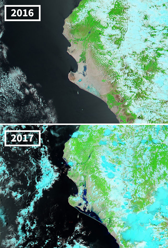 Lluvias Fuertes Inundan Perú