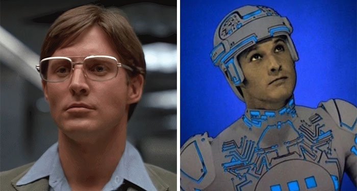 Bruce Boxleitner As Alan Bradley And Tron In Tron (1982)
