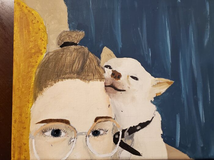 Painting Of Me And My Dog, Aka My Best Friend