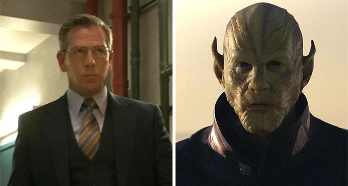 Ben Mendelsohn As Keller And Talos In Captain Marvel (2019)