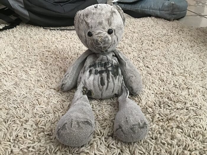 """This Is """"Bear"""". I've Had Him Ever Since I Was 3 Weeks Old. We're Still Friends. :d"""