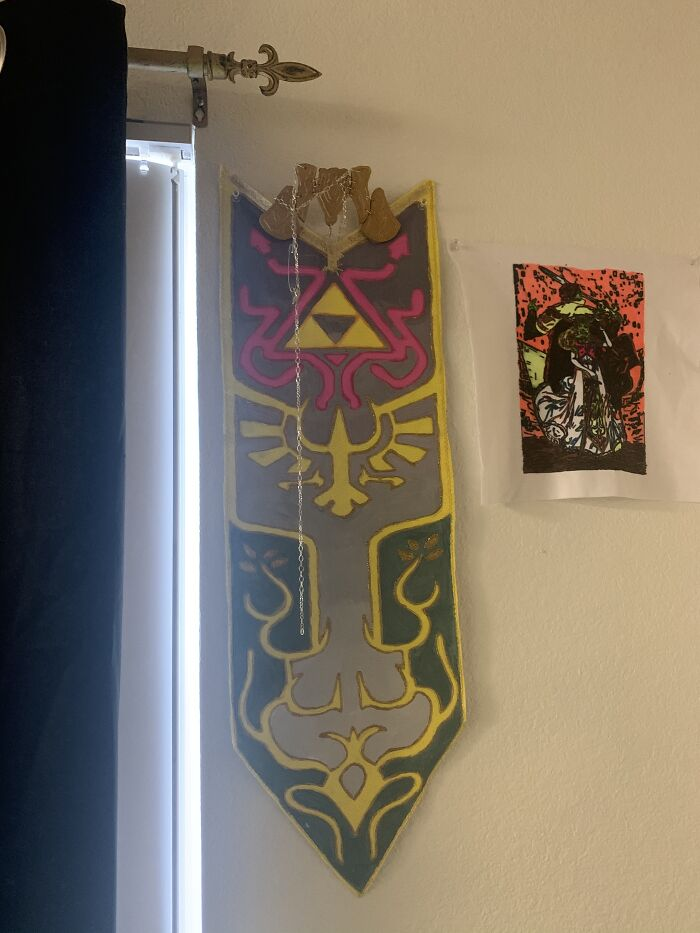 Princess Zelda Banner I Made For A Cosplay Costume. Hand Painted.