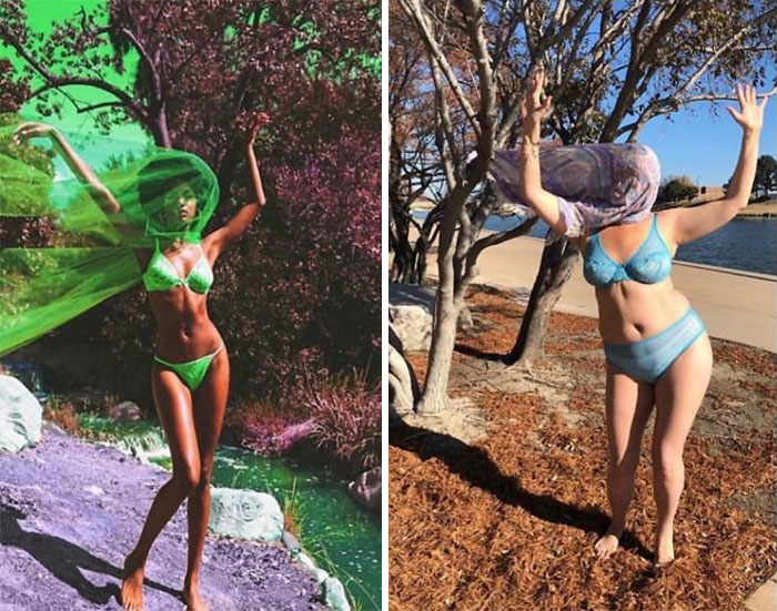 Woman Continues To Hilariously Recreate Celebrity Instagram Photos, And The Result Is Better Than The Original (New Pics)
