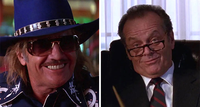 Jack Nicholson As Art Land And U.S. President James Dale In Mars Attacks! (1996)