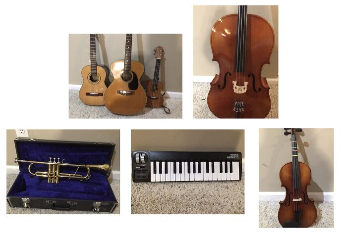 My Little Family Of Instruments. I'm Really Excited About The Midi! Soon, There'll Also Be A Piano