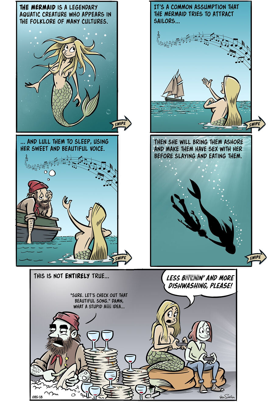 Artist Creates Funny Comics About A Girl's Afterlife