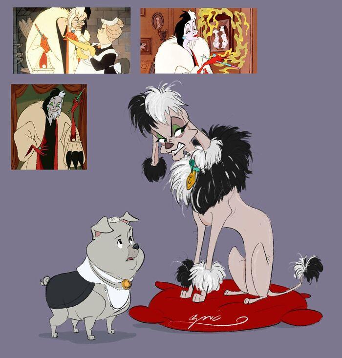 Cruella de Vil y Nanny